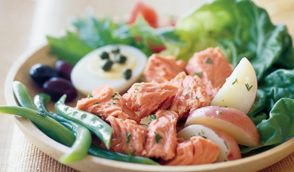 Alaska Salmon Niçoise Salad