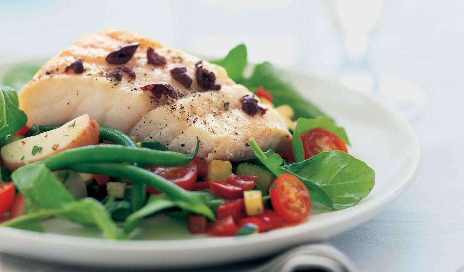 Alaska Cod with Niçoise-Style Salad