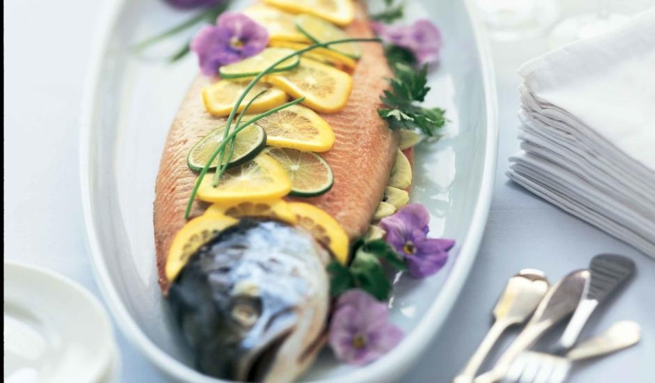 Whole Roasted Alaska Salmon with Fennel and Lemon