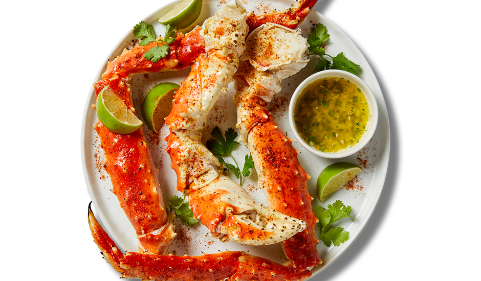 Chili Lime Alaska King Crab with Jalapeno-Cilantro Butter