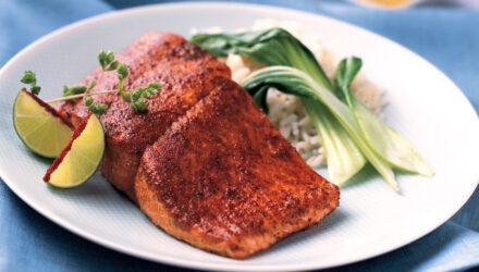 Charred Sugar-Crusted Alaska Salmon