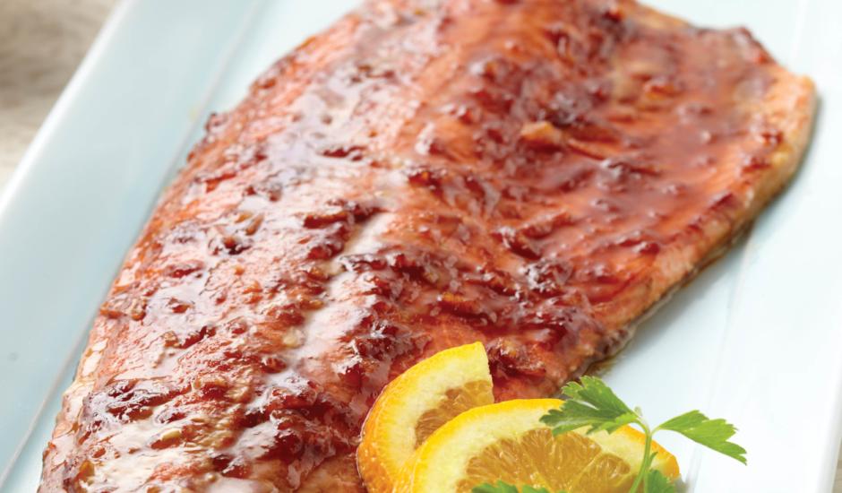 Alaska Sockeye Salmon with Molasses Marmalade Glaze