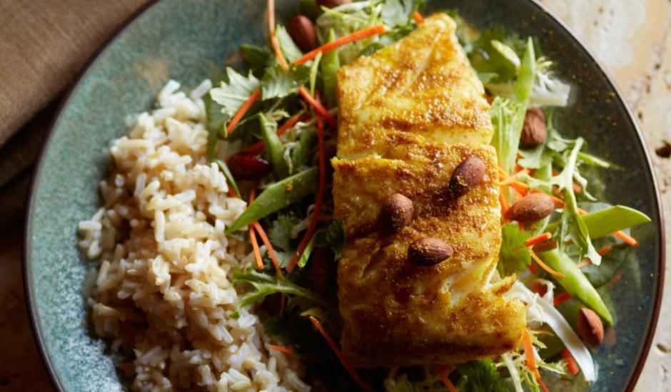 Thai Seared Alaska Cod Salad