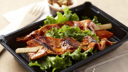 Korean Style Alaska Salmon Belly Skewers