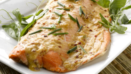 Great Grillled Alaska Salmon Side with Asian Seasoning