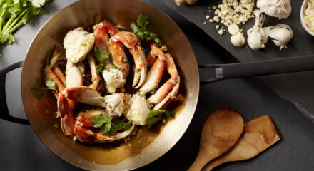 Wok Fried Wild Alaska Dungeness Crab with Garlic, Ginger and Green Onion by Chef Brian Malarkey