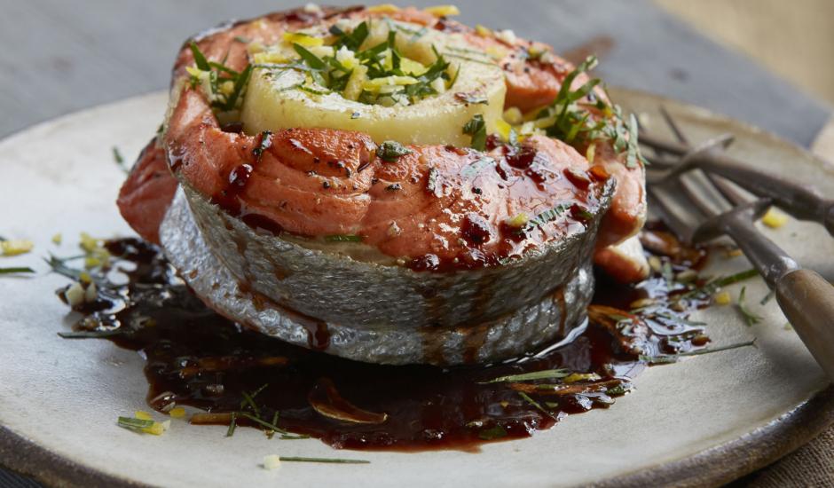 Alaska Salmon Osso Bucco by Chef Adam Hegsted 1