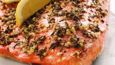 Mediterranean Rub Alaska Salmon
