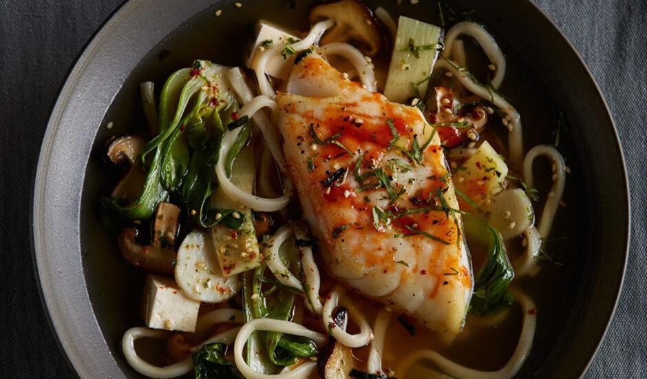 Alaska Honey Sriracha Cod Noodle Bowl
