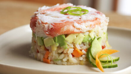 Alaska Snow Crab Sushi Salad