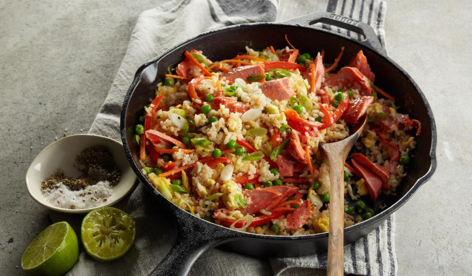 Alaska Salmon Fried Rice