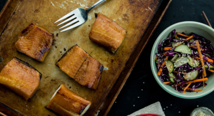 Miso Glazed Alaska Sablefish with Asian Cucumber Salad
