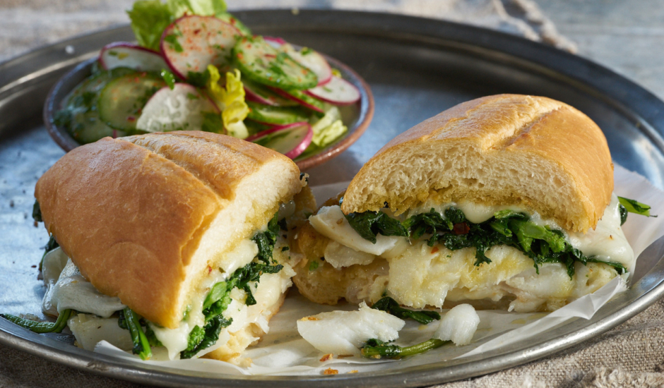 Oven Roasted Wild Alaska Cod Sandwich