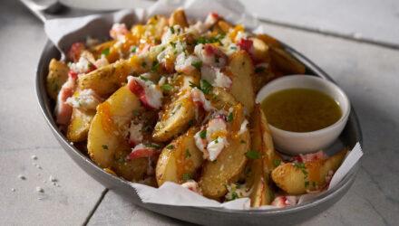 Smothered Wild Alaska Crab Garlic Fries