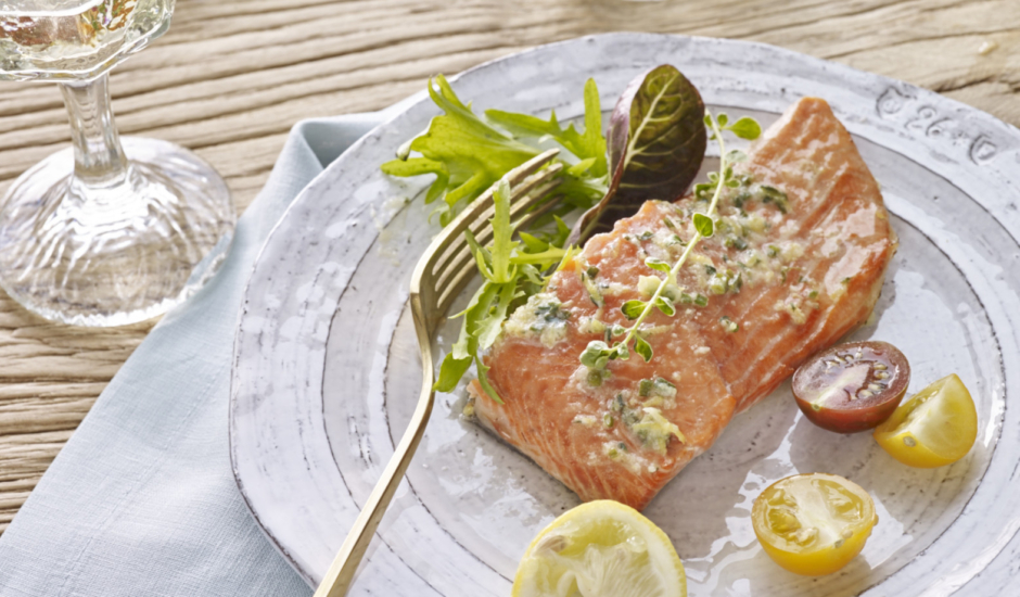 Grilled Alaska Sockeye Salmon with Compound Butter