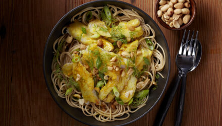 Vietnamese Turmeric Alaska Pollock with Chilled Noodles