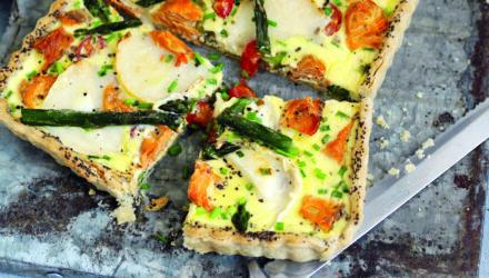 Alaska Salmon and Goat Cheese Tart