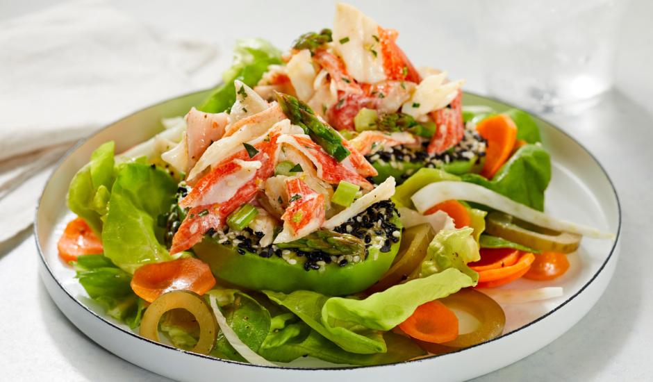 Alaska Surimi Seafood and Pickled Veggie Salad
