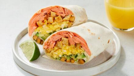 Wild Alaska Salmon with Masa Crunchies Breakfast Burrito
