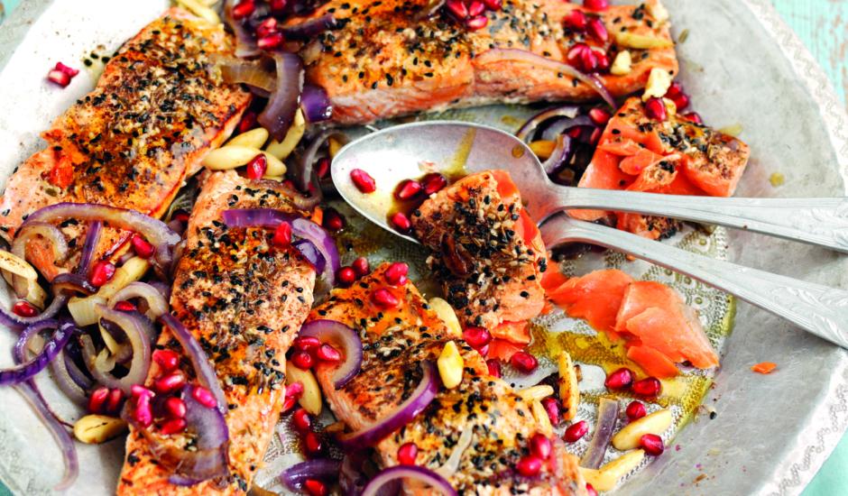 Middle-Eastern Salmon Sharing Platter