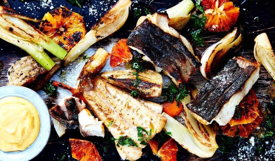 Roasted Alaska Sablefish with Charred Fennel
