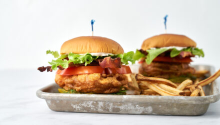 Crispy Alaska Cod BLT Sandwich