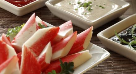 Alaska Surimi Seafood with Dipping Sauces