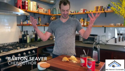 Chef Barton Seaver's Recipe for an at-home Salmon Melt with wild Alaska canned salmon