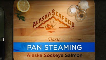 Pan Steaming Sockeye Salmon