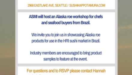 Save the Date: Alaska Roe Workshop 1