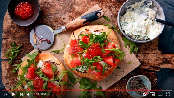 Smoked Alaska Salmon Pizzetta Bianco