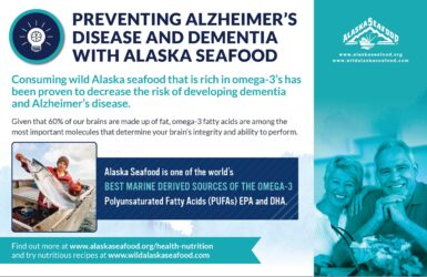 Alaska Seafood for Health During Pregnancy Nutrition Facts Postcard 7