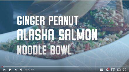 Ginger Peanut Alaska Salmon Noodle Bowl - Alaska from Scratch 1