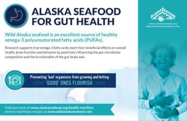 Alaska Seafood for Health During Pregnancy Nutrition Facts Postcard 8