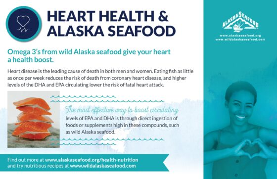 Alaska Seafood for Health During Pregnancy Nutrition Facts Postcard 9