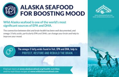 Alaska Seafood for Health During Pregnancy Nutrition Facts Postcard 2
