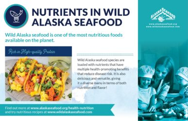 Alaska Seafood for Health During Pregnancy Nutrition Facts Postcard 3
