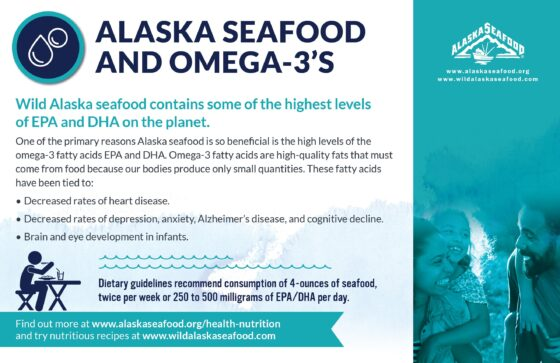 Alaska Seafood for Health During Pregnancy Nutrition Facts Postcard 4